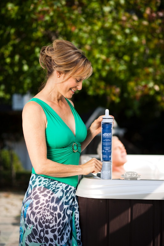 easy hot tub maintenance with Frog products