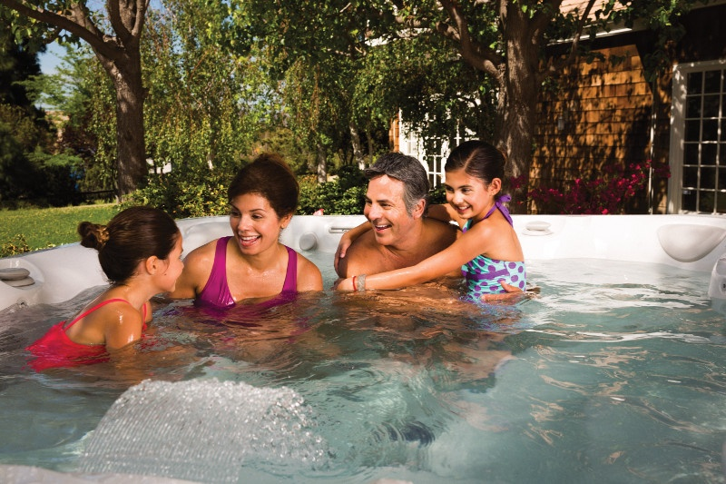 The right hot tub can provide a distraction-free zone to connect with yournger kids too.