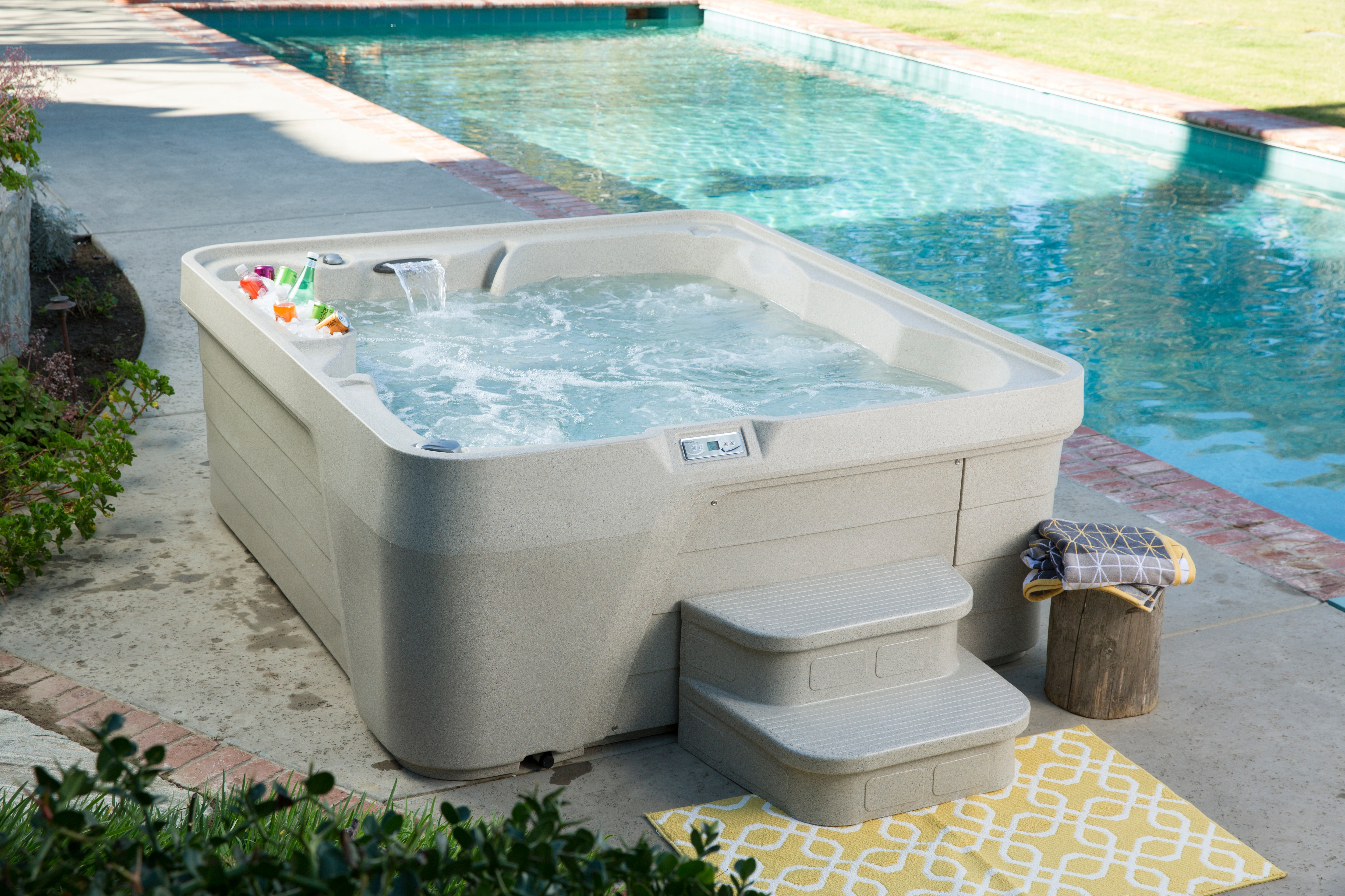 cost of hot tub - roto molded entry level hot tub