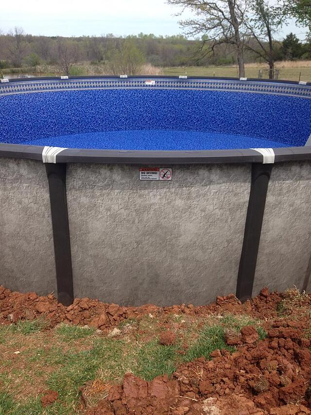 above ground pool beaded liner