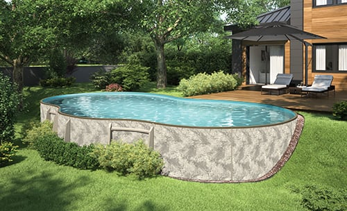 Freeform Semi - Inground Pool