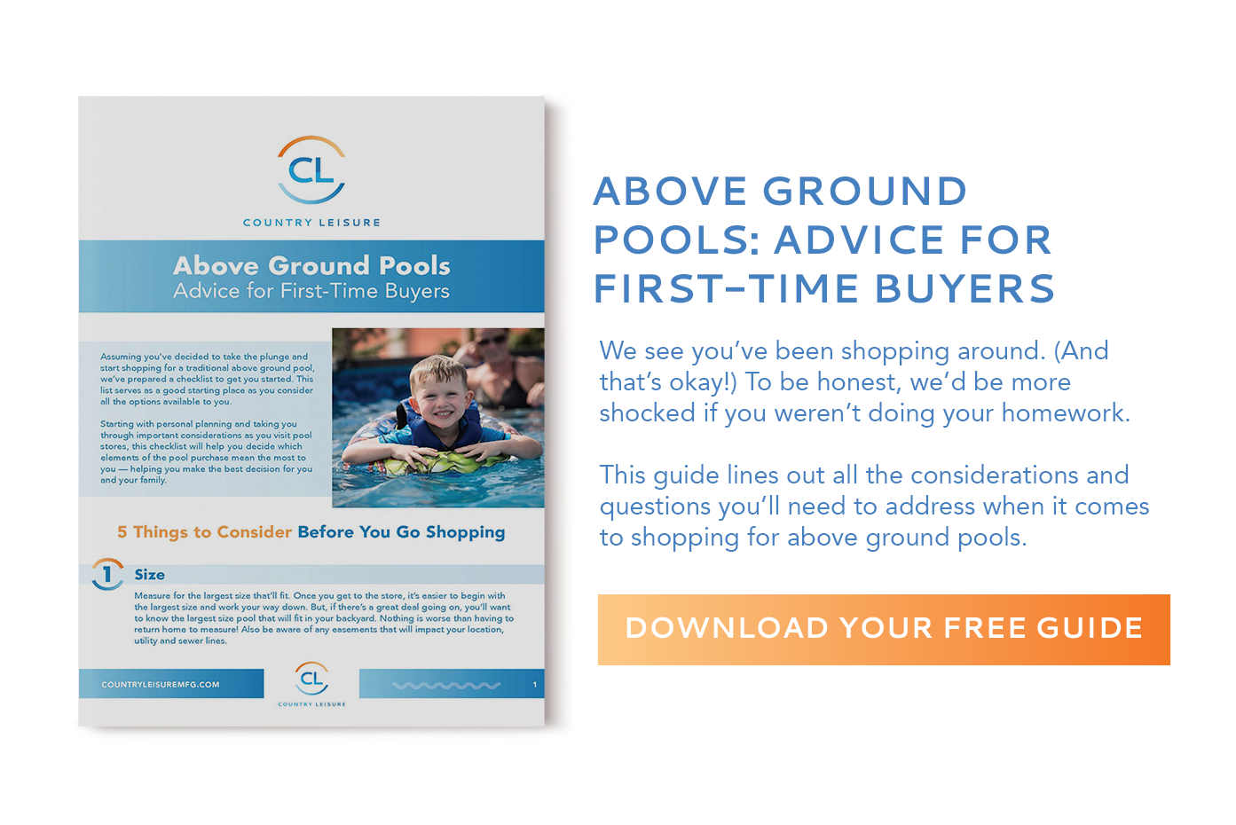 Read the Above Ground Pool Buyer's Guide
